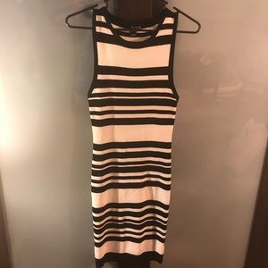 Windsor Black and White Striped Bodycon Dress